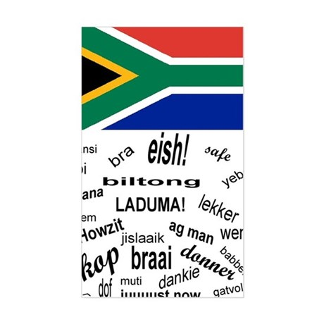 South African Slang Sticker (Rectangle)