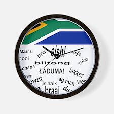 South African Slang Wall Clock