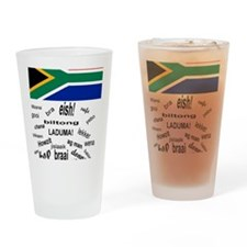 South African Slang Drinking Glass