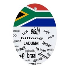 South African Slang Oval Ornament