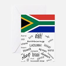 South African Slang Greeting Card