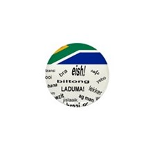 South African Slang Mini Button