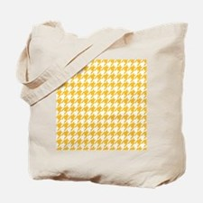 yellow houndstooth Tote Bag
