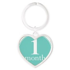 1 Month Heart Keychain