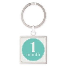 1 Month Square Keychain