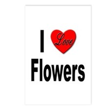 I Love Flowers Postcards (Package of 8)