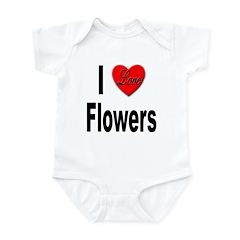 I Love Flowers Infant Bodysuit