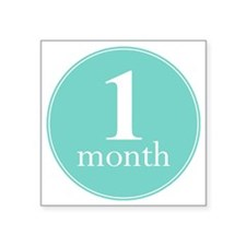 "1 Month Square Sticker 3"" x 3"""