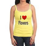 I Love Flowers Jr. Spaghetti Tank
