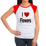 I Love Flowers Women's Cap Sleeve T-Shirt