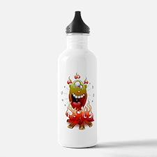 funny fire monster Sports Water Bottle