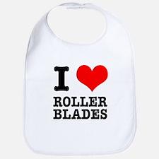 I Heart (Love) Roller Blades Bib