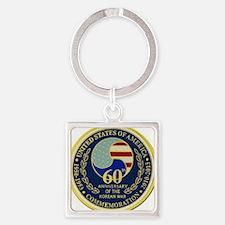 Korea War 60th Anniversary Square Keychain