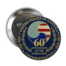 "Korea War 60th Anniversary 2.25"" Button"