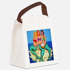 Mermaids Merbabes Seashell Art Canvas Lunch Bag