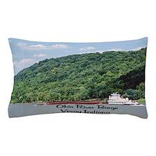 River Barge Pillow Case