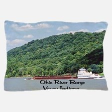 River Barge Pillow Case