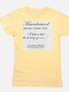 Misunderstood Lyric #131 Girl's Tee