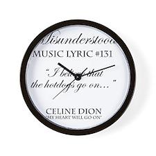Misunderstood Lyric #131 Wall Clock