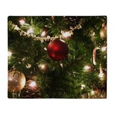 Christmas Tree Ornaments Throw Blanket