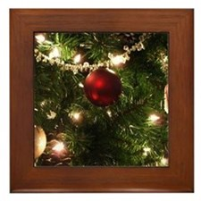 Christmas Tree Ornaments Framed Tile
