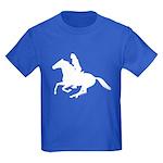 Horse Rider. Sexy Woman Kids Dark T-Shirt