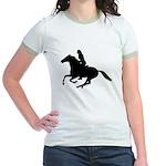 Horse Rider. Sexy Woman Jr. Ringer T-Shirt