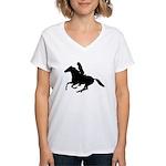 Horse Rider. Sexy Woman Women's V-Neck T-Shirt