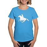Horse Rider. Sexy Woman Women's Dark T-Shirt