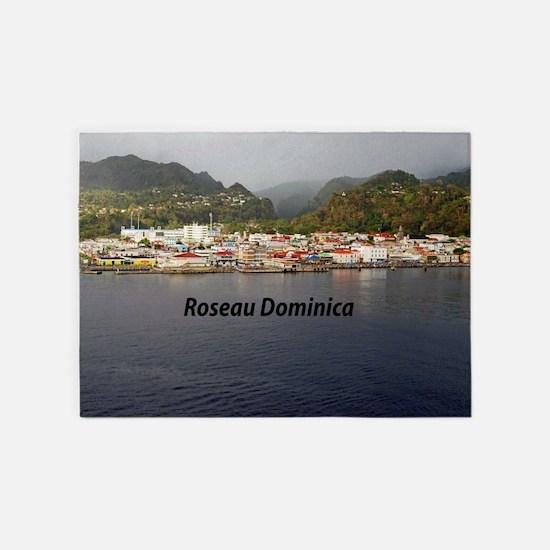 Roseau Dominica 5'x7'Area Rug