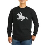 Horse Rider. Sexy Woman Long Sleeve Dark T-Shirt