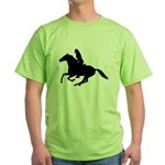 Horse Rider. Sexy Woman Green T-Shirt