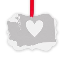 Heart Washington state silhouette Ornament