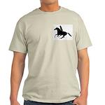 Horse Rider. Sexy Woman Light T-Shirt