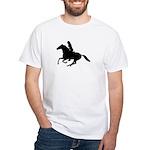 Horse Rider. Sexy Woman White T-Shirt