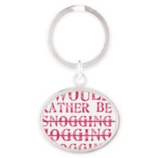 Rather be blogging Oval Keychain