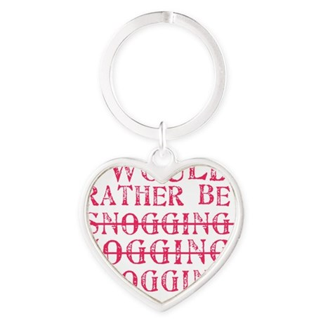 Rather be blogging Heart Keychain