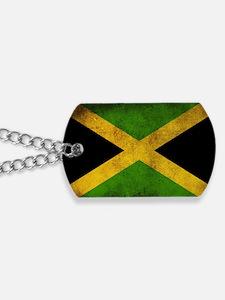 Jamaica Flag Dog Tags