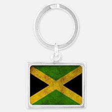 Jamaica Flag Landscape Keychain