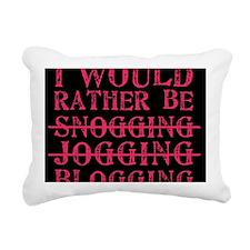 Rather be blogging Rectangular Canvas Pillow