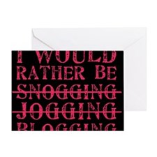 Rather be blogging Greeting Card