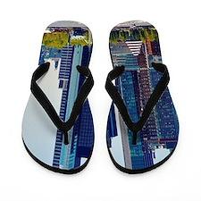 Lower Manhattan Skyline Flip Flops