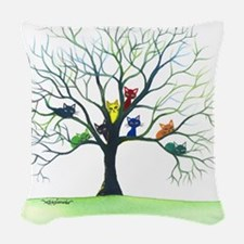 Eau Claire Stray Cats Woven Throw Pillow