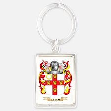 Alden Coat of Arms Portrait Keychain