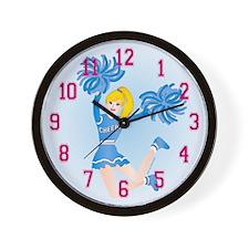 Cheerleader Gal Blonde Wall Clock