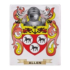 Allen Coat of Arms Throw Blanket