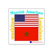 """Moorish American_Washitaw L Square Sticker 3"""" x 3"""""""