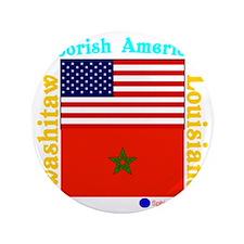 """Moorish American_Washitaw Logo 3.5"""" Button"""