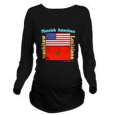 Moorish American_Was Long Sleeve Maternity T-Shirt
