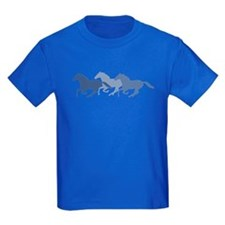 Blue Galloping Horses T